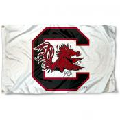 South Carolina Gamecocks Flag - White