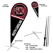 South Carolina Gamecocks Teardrop Flag and Stand Kit