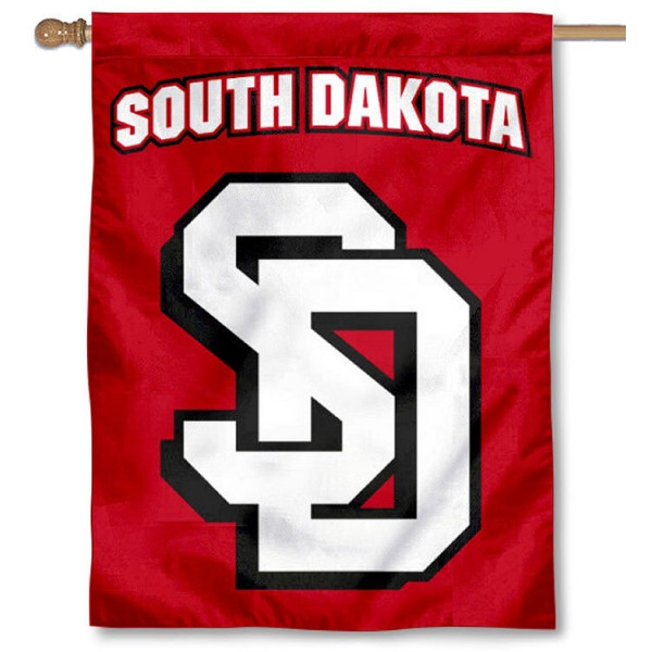 South Dakota Coyotes 2 Logo House Flag