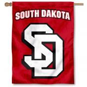 South Dakota Coyotes 2 Logo House Flag