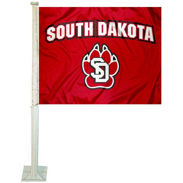 South Dakota Coyotes Car Flag