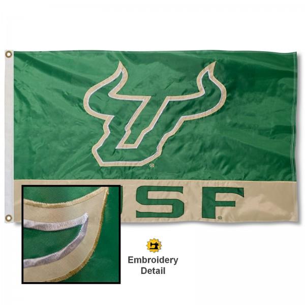 South Florida Bulls Appliqued Sewn Nylon Flag