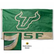 South Florida Bulls Appliqued Sewn Nylon Flag