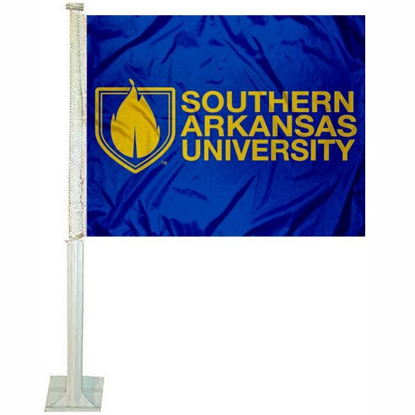 Southern Arkansas Muleriders Car Flag