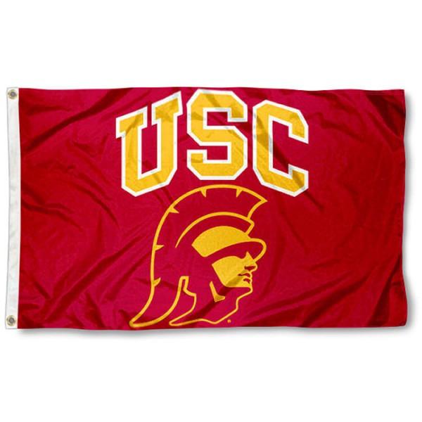 Southern Cal Trojans 3x5 Foot Trojan Head Flag