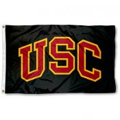 Southern Cal Trojans Black 3x5 Foot Flag