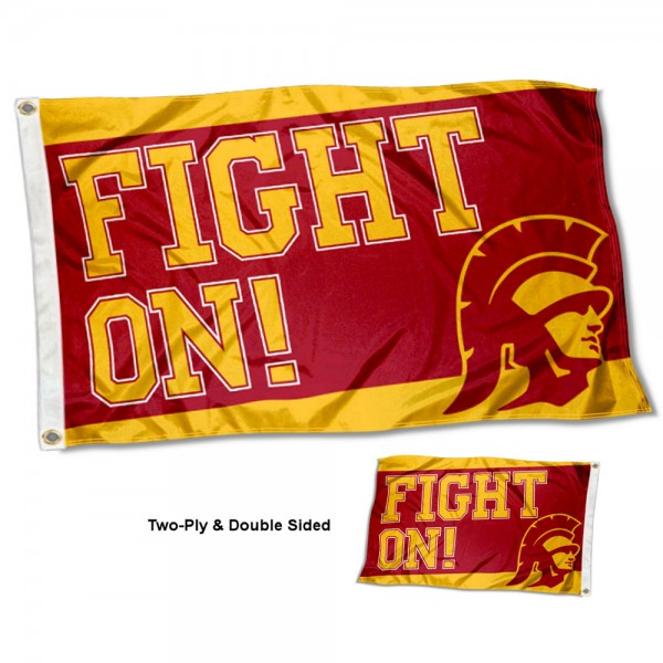 Southern Cal USC Trojans Fight On Two Sided 3x5 Foot Flag