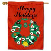 Southern Illinois Edwardsville Cougars Christmas Holiday House Flag