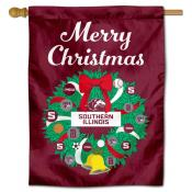 Southern Illinois Salukies Christmas Holiday House Flag