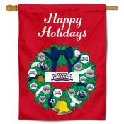 Southern Indiana Screaming Eagles Christmas Holiday House Flag