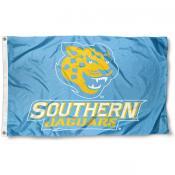 Southern Jaguars Light Blue Logo Flag