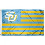 Southern Jaguars Light Blue Stripes American Nation Flag