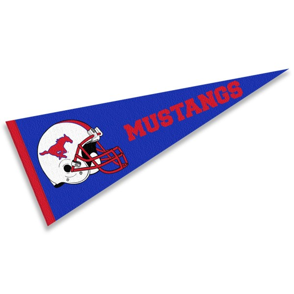 Southern Methodist Football Helmet Pennant