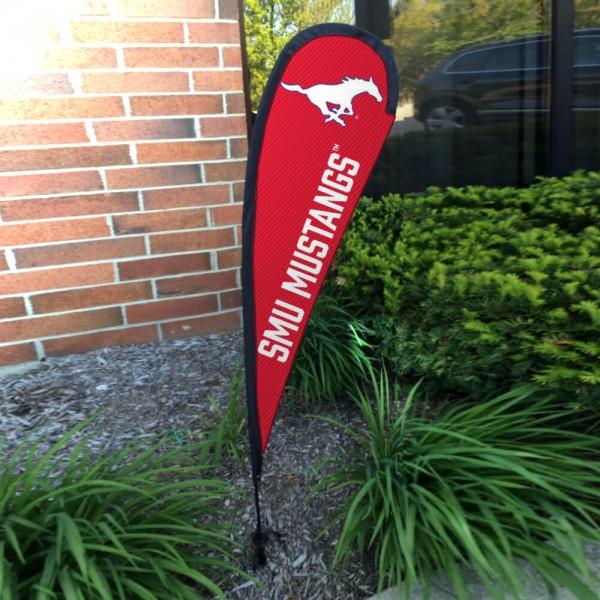 Southern Methodist Mustangs Mini Teardrop Garden Flag