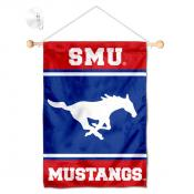 Southern Methodist Mustangs Window Hanging Banner with Suction Cup