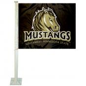 Southwest Minnesota State Mustangs Car Flag