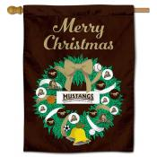 Southwest Minnesota State Mustangs Christmas Holiday House Flag