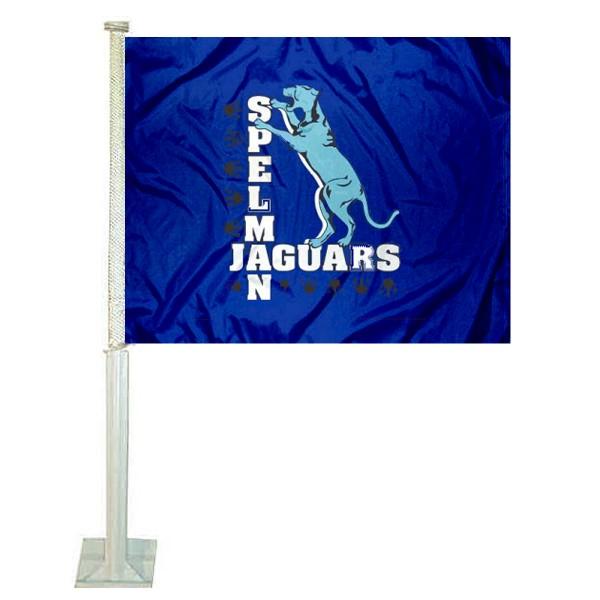 Spelman Jaguars Car Flag