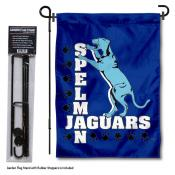Spelman Jaguars Garden Flag and Holder