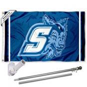 SSU Seawolves Logo Flag and Bracket Flagpole Kit