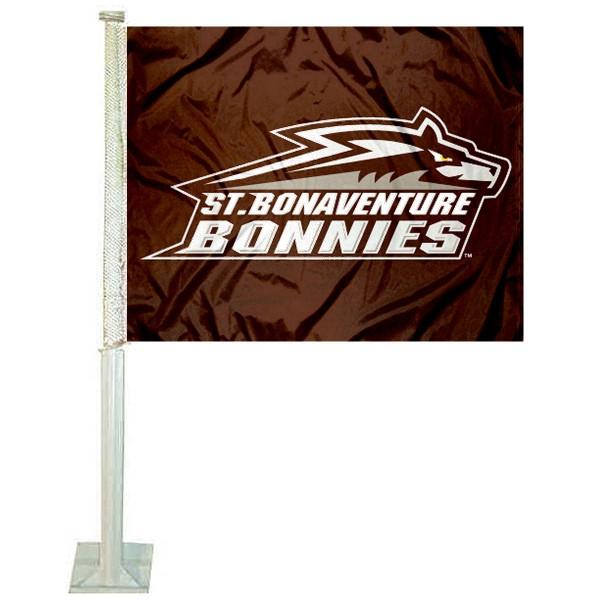 St. Bonaventure Bonnies Car Flag