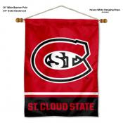 St. Cloud State Huskies Banner with Pole
