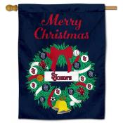 St. John's Red Storm Christmas Holiday House Flag