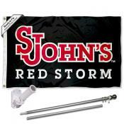St. John's Red Storm Flag and Bracket Flagpole Kit