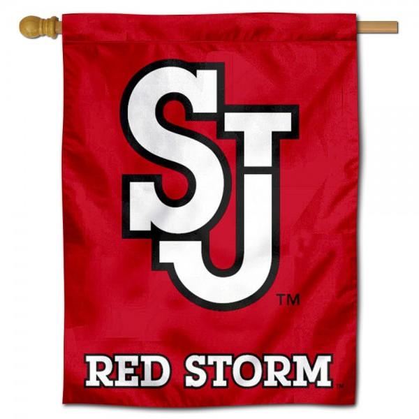 St. John's SJ Red Storm House Flag
