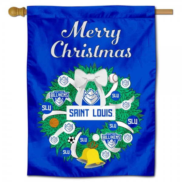 St. Louis Billikens Christmas Holiday House Flag