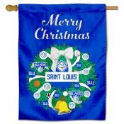 St. Louis Billikens Christmas Holiday House Flag
