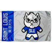 St. Louis Billikens Tokyodachi Cartoon Mascot Flag