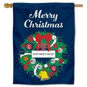 St. Mary's Gaels Christmas Holiday House Flag