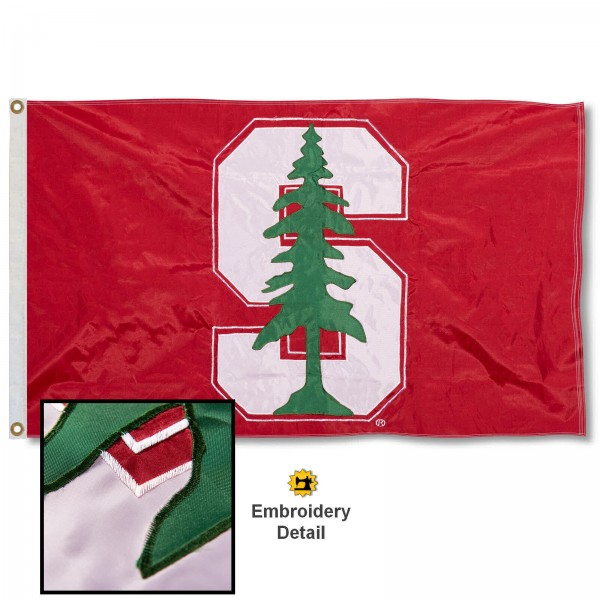 Stanford Cardinal Appliqued Nylon Flag