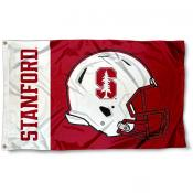 Stanford Cardinal Football Helmet Flag