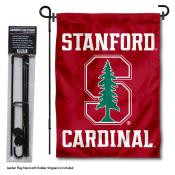 Stanford Cardinal Garden Flag and Holder