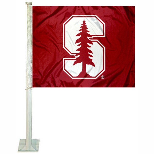 Stanford Cardinal Logo Car Flag