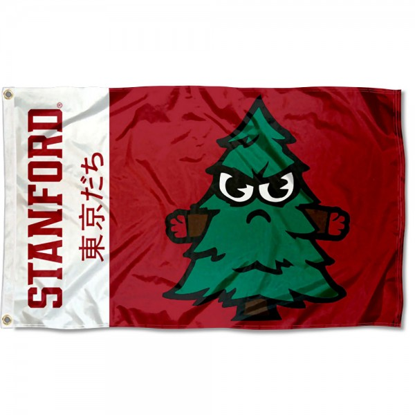 Stanford Cardinal Tokyodachi Cartoon Mascot Flag