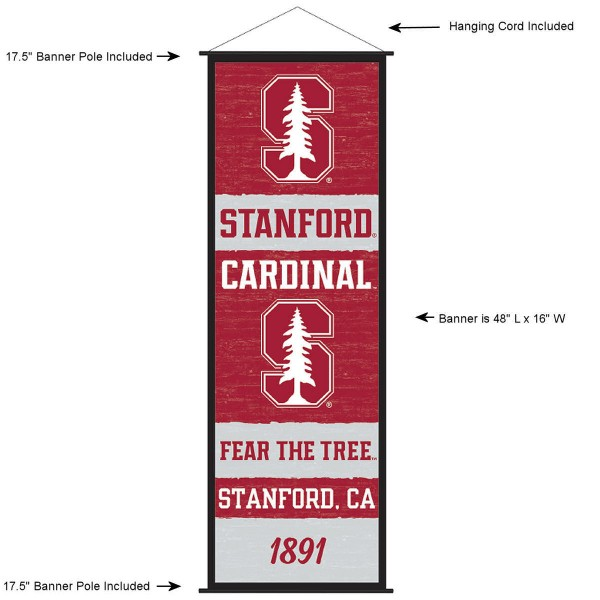 Stanford Cardinal Wall Banner and Door Scroll