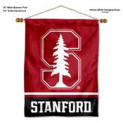 Stanford University Cardinal Banner with Pole
