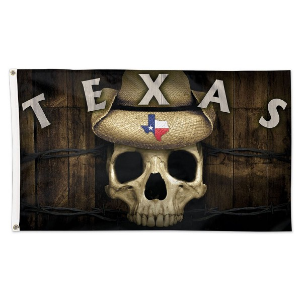 State of TX Skull 3x5 Foot Flag