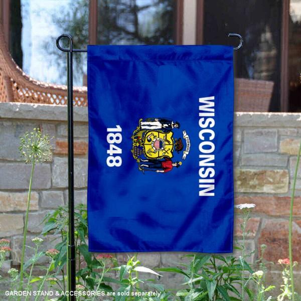 State of Wisconsin Yard Garden Banner