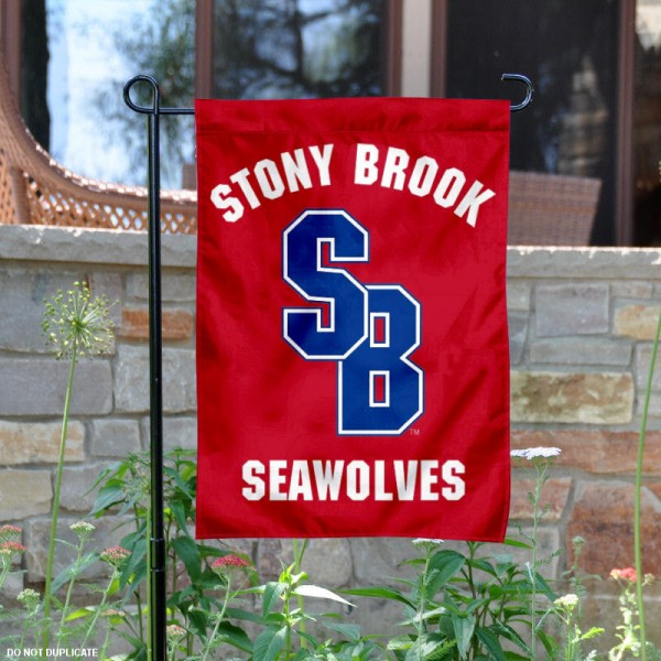 Stony Brook Seawolves Red Garden Flag
