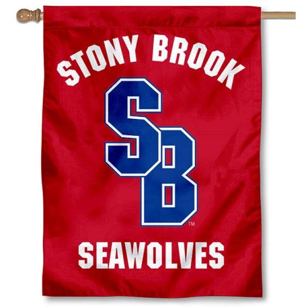 Stony Brook Seawolves Red House Flag