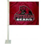 SUNY Potsdam Bears Car Flag