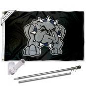 SWOSU Bulldogs Flag and Bracket Mount Flagpole Set