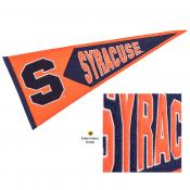 Syracuse Embroidered Wool Pennant