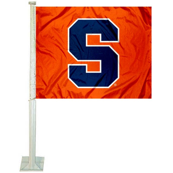 Syracuse Logo Car Flag
