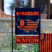 Syracuse Orange Nation Garden Flag