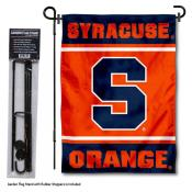 Syracuse University Garden Flag and Yard Pole Holder Set